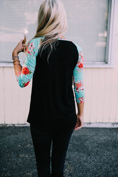 Floral Raglan Top - New Colors!