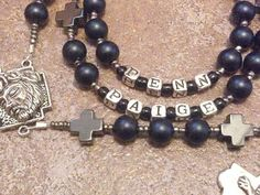 Personalized Rosary Great for Baptism Communion by gr8byz on Etsy