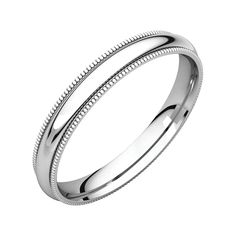 10KY 3mm LTW Half Round Band Size 9 Size 9 Length Width 3