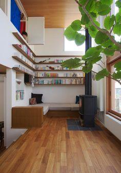 Contemporary Living Room by Nobuyuki Nagahama Architecht