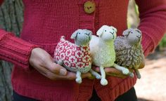 so adorable it hurts! which one will you make?  sheep! pattern by susan b. anderson / in quince & co. chickadee