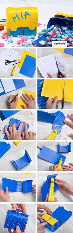 Ein kleiner Schulranzen als Geschenkverpackung für die Erstklässler! So süß und total einfach zu basteln. Wir zeigen im Magazin wie es geht!   #anleitung #tutorial #nähen #handarbeit #schultüte #geschenke #zuckertüte #diy #basteln #schulanfang #einschulung #erstklässler #selbermachen #bastelidee #schule #schulstart #basteltipp #geschenkidee #schulranzen #papier