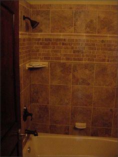 Main bath tile  - like the hardware too.