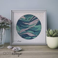 Pisces - I'm happiest by the sea and in the waves!  Blue Wave Earth Sea Print, Print,Printable,Nautical,Digital Print,Nursery,Wall Art,Turquoise,living room, Bedroom,Bathroom, A4 size,Download Dot and Diego