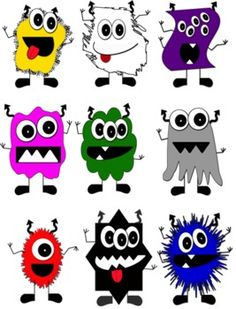 Monster activities: FREE color monsters clip art by Andrea Gibson.