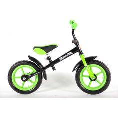 Yipeeh Loopfiets 12 inch Zwart Groen - 227