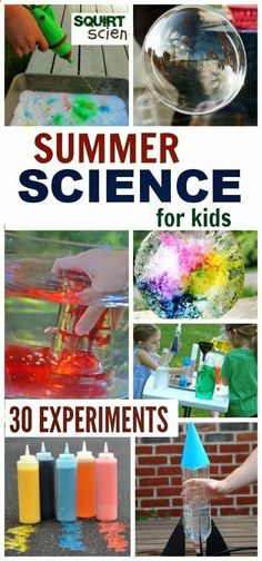 30 must try Summer Science activities that will WOW the kids and keep them engaged in learning. COOL outdoor experiments for Summer