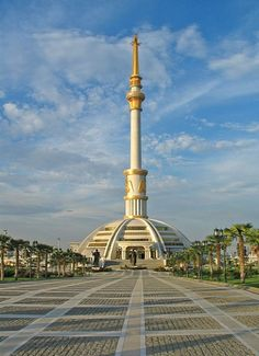 A Monument dedicated to 8th year of Independence of Turkmenistan - Asjabad