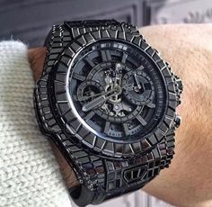 Hublot Big Bang Unico in full black diamonds, valued at $1,000,000 😳