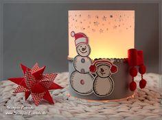 Stampin' Up Teelicht Frostige Freunde, Es schneit