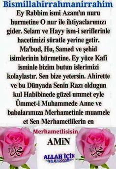 Ey rabbim ismi azamin nuru hurmetine ~ Kuaza Allah Islam, My Lord, Meant To Be, Prayers, Names, Facebook, Check, Rage, Pictures