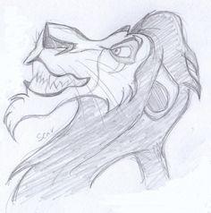 diseny sketch - scar, der könig der löwen 1994 - Art by Anna Helena - Disney Scar Lion King, The Lion King 1994, Lion King Art, Disney Artwork, Disney Drawings, Disney Sketches, Colorful Drawings, Easy Drawings, Dolphin Drawing
