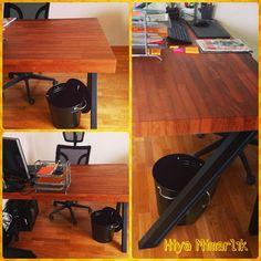 Masif irek çalışma masası ve toplantı masası tasarım by Bir Mimarlık Detaylı bilgi için www.facebook.com/hiyamimarlik hiyamimarlik's photo on Instagram