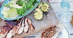 Oppskrift fra Tinas sommer. Avocado Egg, Avocado Toast, Vinaigrette, Fresh Rolls, Kiwi, Eggs, Breakfast, Ethnic Recipes, Food