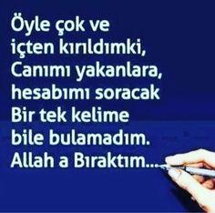 ✔ Allah'a biraktim