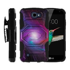 LG K4 | Zone 3 Case ARMOR RELOADED, Rugged Impact Holster and Kickstand - Purple AlcatelSwirl