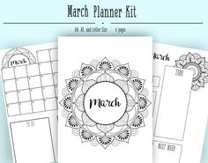 Bullet journal layout for monthly planning. This layout includes a month cover page, a one page monthly planning page, a monthly habit tracker and a two page weekly spread. Each weekly spread has space for 7 boxes for 7-day planning and a place to fill in a small monthly calendar, a weather calendar, a weekly to do, notes, and a empty box to fill with your choosing. You will receive 3 files with the tracker in 4x6, A5, and Letter (8.5x11in) size so you can print easily in whatever size you…