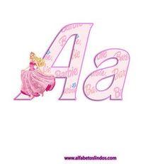 Precioso Alfabeto de Barbie Princesa. | Oh my Alfabetos!