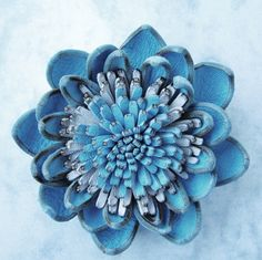 """How to make Leather Flower http://www.exceptionalgift.eu/gallery.html...click on """"videos"""" top row for 2 flowers to make"""