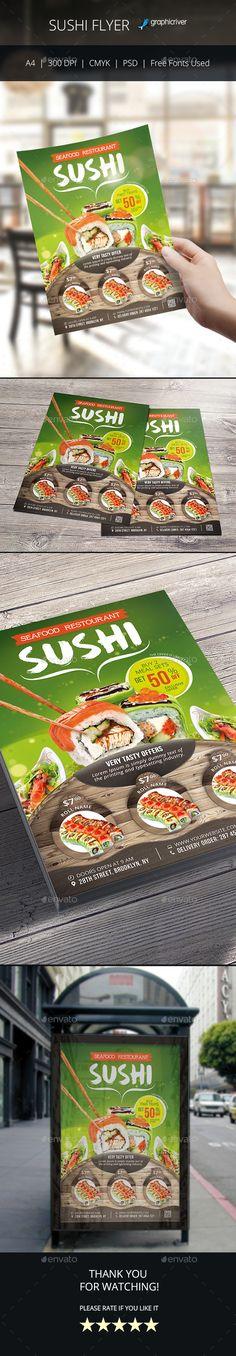 Sushi Menu Template Sushi menu, Menu templates and Flyer template - menu flyer template