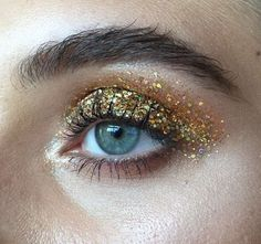 Gold Glitter Eyes by Cool Chic Style Fashion