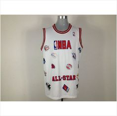 d78dc99b1 Men s All Star White NBA Basketball Jersey 820103337403 on eBid United  States