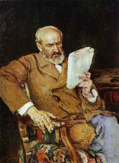 Surikov, Vasily (1848-1916) - 1910c. Portrait of Dr. A.D. Yezersky by RasMarley, via Flickr