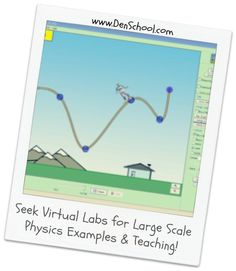 Just because you don't have a large physics lab doesn't mean you don't have the means to teach large scale Physics lessons.... use virtual labs instead!
