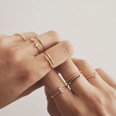 Gold jewelry – simple jewelry – stackable rings – boho jewelry – classic jewelry… - new season bijouterie Gold Jewelry Simple, Cute Jewelry, Boho Jewelry, Jewelry Accessories, Fashion Jewelry, Jewelry Ideas, Simple Necklace, Handmade Jewelry, Dainty Gold Rings