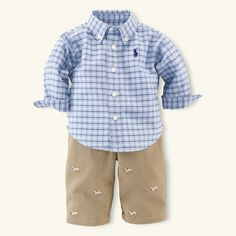 Preppy lil outfit by Ralph Lauren