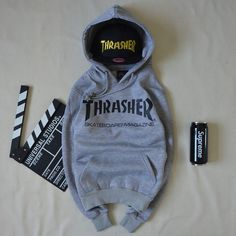 Thrasher Skateboard Magazine Gray Hoodie