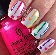 Valentine's nails / manicure Walentynkowy / Nail art check it out /  zapraszamy do  www.beauty4ever.pl