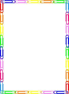 Rainbow colored page border featuring abstract top and