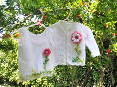 Baby Girl dresses Kids clothing Sweater Twins Handmade by nerina52