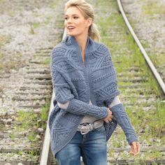 Жакет и митенки - схема вязания спицами. Вяжем Комплекты на Verena.ru
