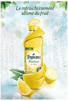 Tropicana Fraicheur by frederic fuchs, via Behance Ads Creative, Creative Posters, Creative Advertising, Advertising Design, Product Advertising, Food Poster Design, Ad Design, Photoshop, Juice Ad