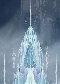 Visual Development from Frozen. From Disney Concepts & Stuff. Elsa Castle, Frozen Castle, Snow Castle, Frozen Elsa And Anna, Disney Frozen Elsa, Frozen Queen, Frozen Wallpaper, Disney Wallpaper, Frozen Party