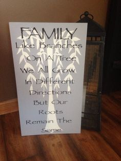 Family like branches on a tree sign by PrimGifts on Etsy