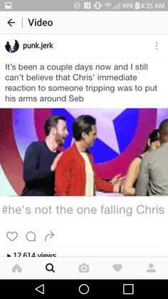 Poor Sebastian is such a klutz, I can relate, that Chris is like okay gotta protect him from himself XD