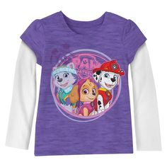 Toddler Girls' Paw Patrol Tee Shirts - Purple