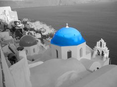 Photoshop Practice - black & white photos of places you've been to & adding some color