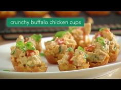 These Crunchy Buffalo Chicken Cups are perfect for Sunday night football www.pamperedchef.biz/JenGrimes, Jen Grimes, Independent Consultant with The Pampered Chef, Schaumburg, IL