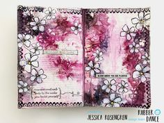 Art Journal Pages, Art Journals, Mixed Media Journal, Mixed Media Art, Art Journal Inspiration, Journal Ideas, Doodle Borders, Art Journal Tutorial, Bloom Where You Are Planted