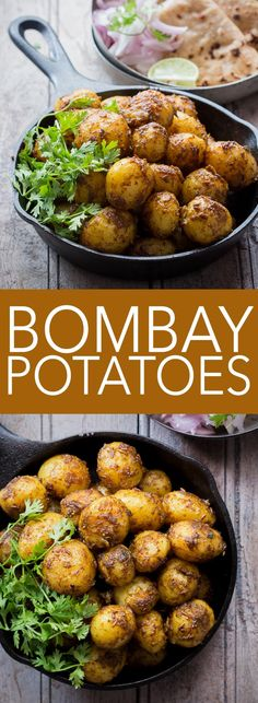Need to make Indian in 20 minutes? Try these Bombay Potatoes or chatpate masala aloo! One pan, no fuss recipe! Coated with spices and super quick, they double up as appetizer and main course.