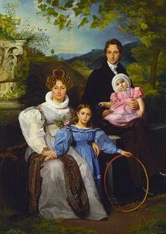 Portrait of the Gaspard Moeremans Family by Francois-Joseph Navez @artsmia.org