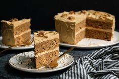 Coffee Walnut Layer Cake – Specially for Valentine's Day – This is a subtle cake: the coffee tempers the sweetness, and the buttery sweetness keeps it all mellow.