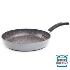 Frying & Grill Pans Stone 20 Cm Regis Stone Non-stick Anti-scratch Frying Pan Black
