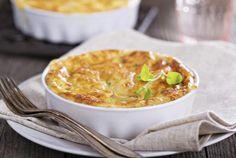 Tourte aux 3 fromages et légumes