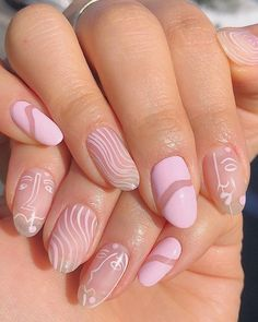 I'm in love with this manicure done by inspired by for 🌸 . Cute Simple Nails, Perfect Nails, Pretty Nails, Cute Gel Nails, Gorgeous Nails, Nail Design Stiletto, Nail Design Glitter, Finger, Fire Nails