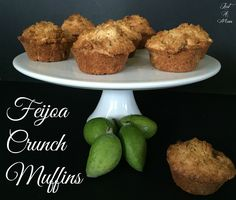 Absolutely delicious and oh so easy, you will love these Feijoa Muffins. The perfect balance, loaded with fruit and a delicious cruncy topping. Guava Recipes, Yummy Recipes, Just Desserts, Dessert Recipes, Cake Recipes, Crunch, Create A Recipe, Party Decoration, Fruit In Season